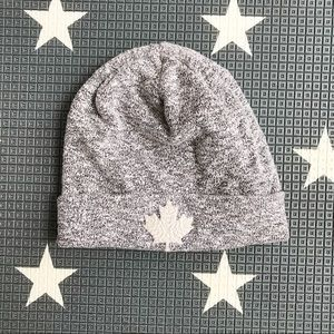 Roots marled grey beanie touque